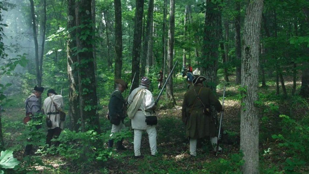 alt= battlefield reenactment